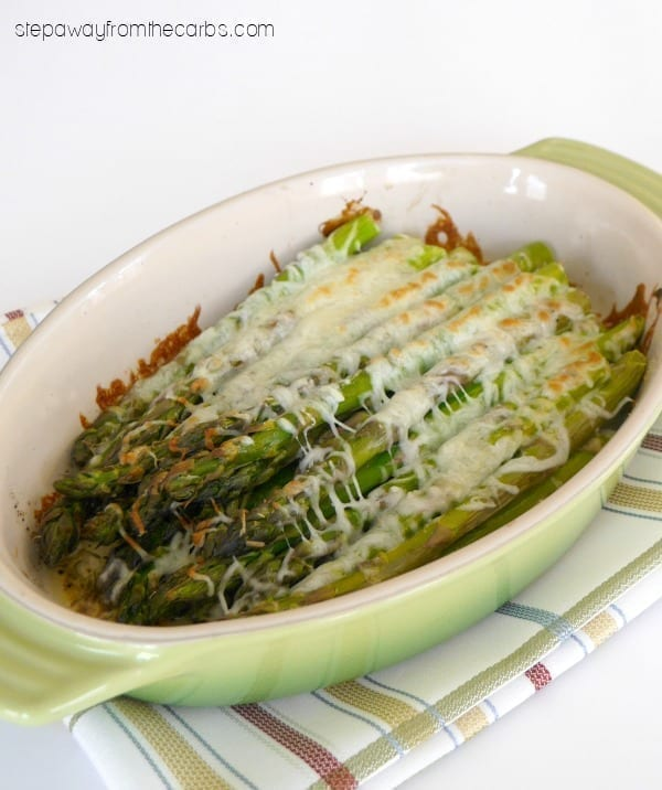 Low Carb Asparagus Gratin - a tasty side dish recipe