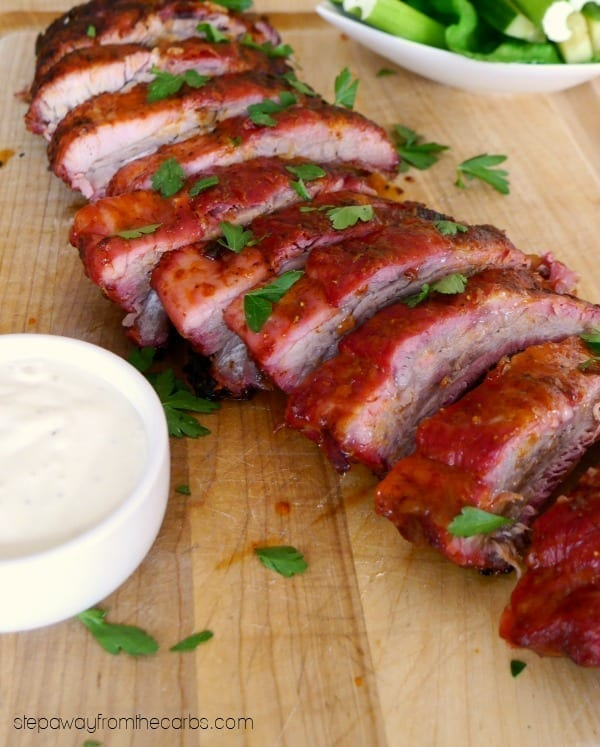 Low Carb Buffalo Ribs on the Grill - super easy to cook!