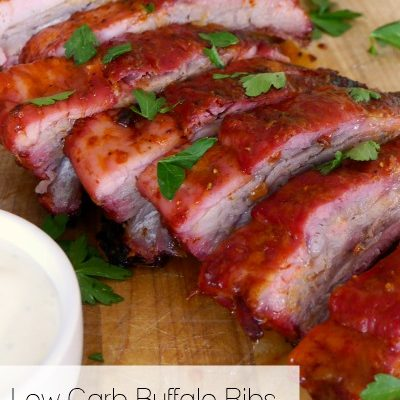 Low Carb Buffalo Ribs on the Grill