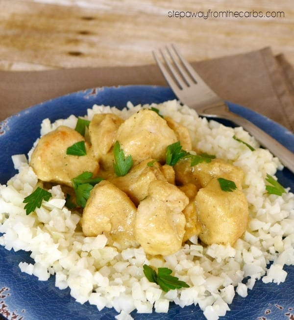 Low Carb Chicken Korma - a classic mild Indian curry recipe