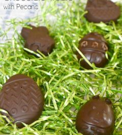 Low Carb Easter Chocolate Treats with Pecans