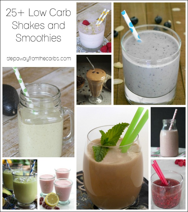 25+ Low Carb Shakes and Smoothies - all keto and sugar free recipes