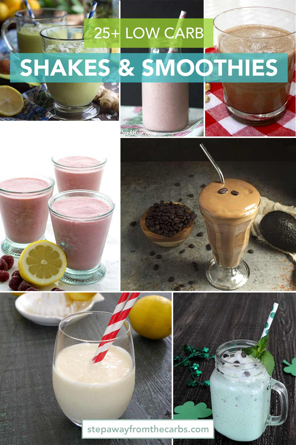 25+ Low Carb Shakes and Smoothies - keto and sugar free recipes