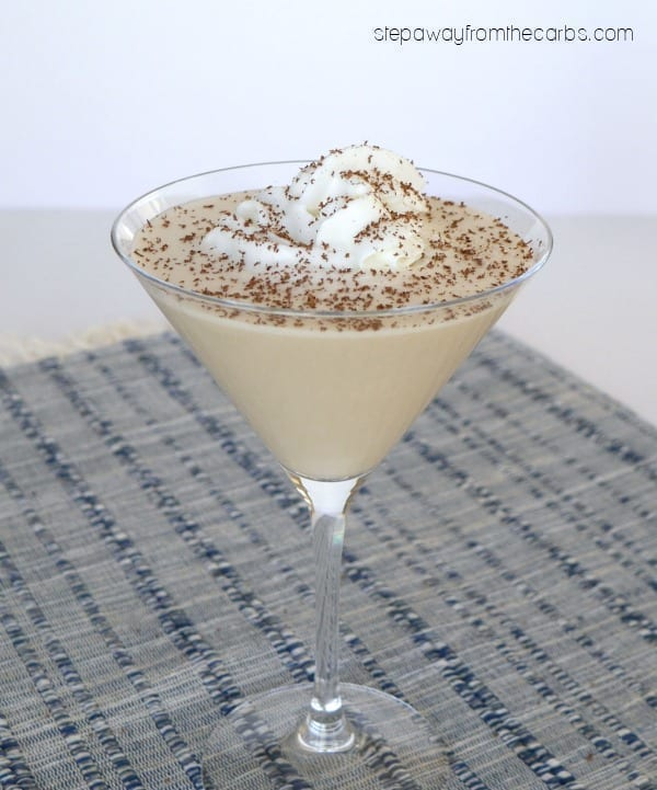 Low Carb Chocolate Cream Pie Martini - a decadent cocktail!