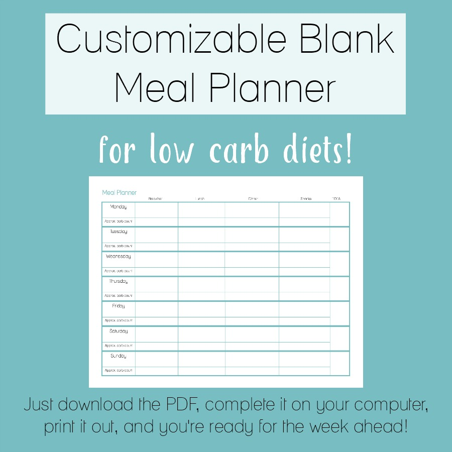 photo regarding Blank Planner named Customizable Blank Evening meal Planner