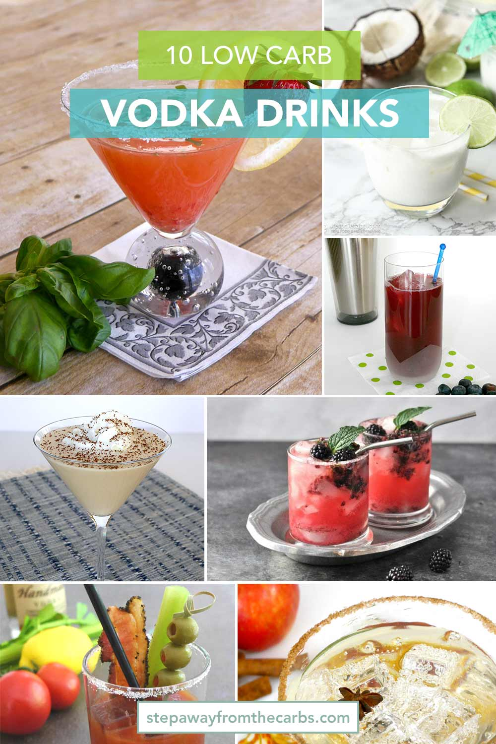 10 Low Carb Vodka Drinks - all keto and sugar free recipes!