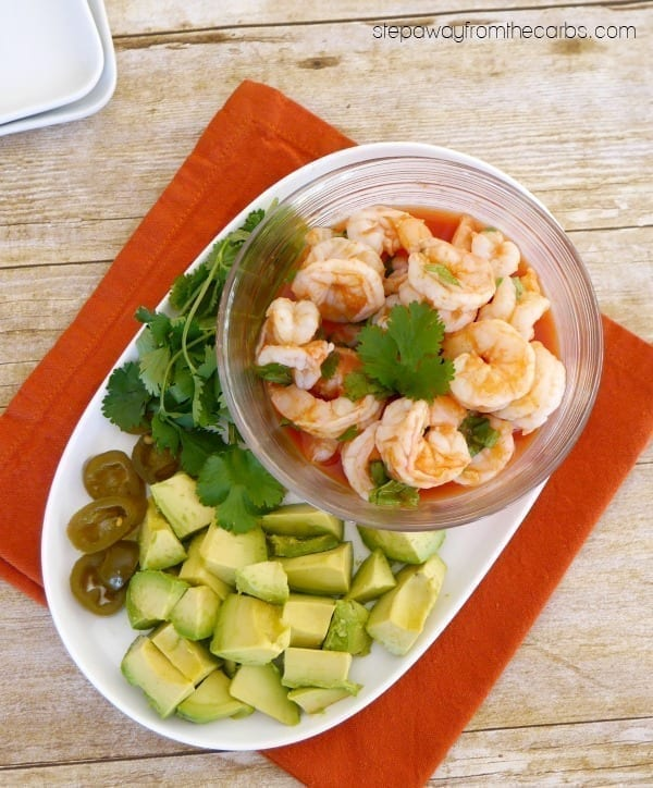 Low Carb Mexican Shrimp Appetizer - a delicious way  to start a meal!