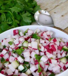 Low Carb Radish and Cucumber Salad