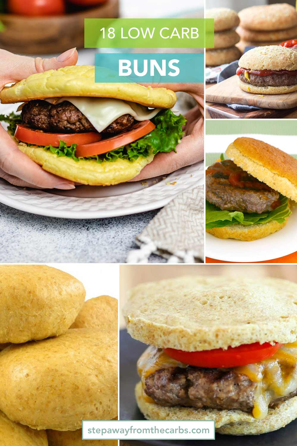 18 Low Carb Buns - homemade, store bought, and alternative options for you to try!