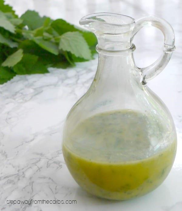 Lemon Balm Vinaigrette - a refreshing and herby salad dressing for the summer