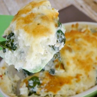 Low Carb Cauliflower Casserole with Spinach