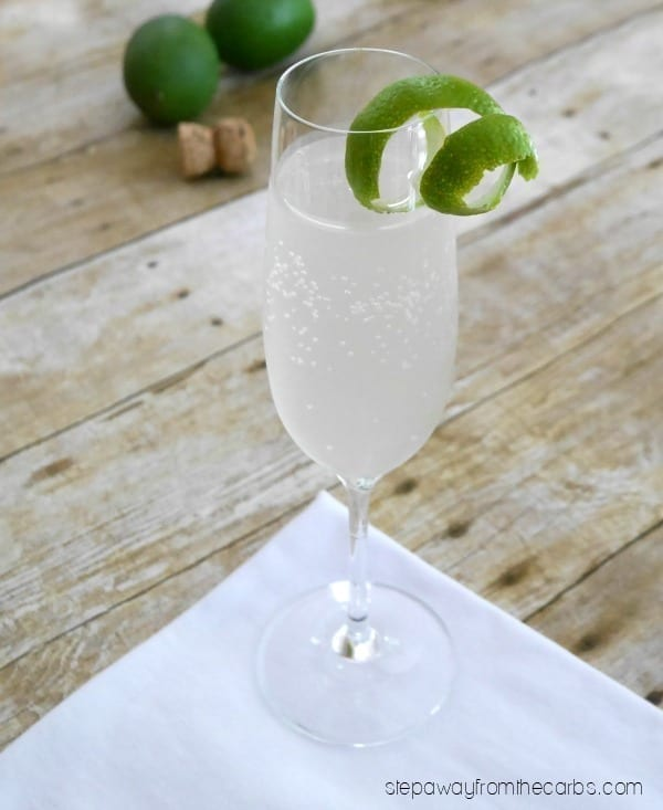 Low Carb Sparkling Margarita - a refreshing and sugar free recipe