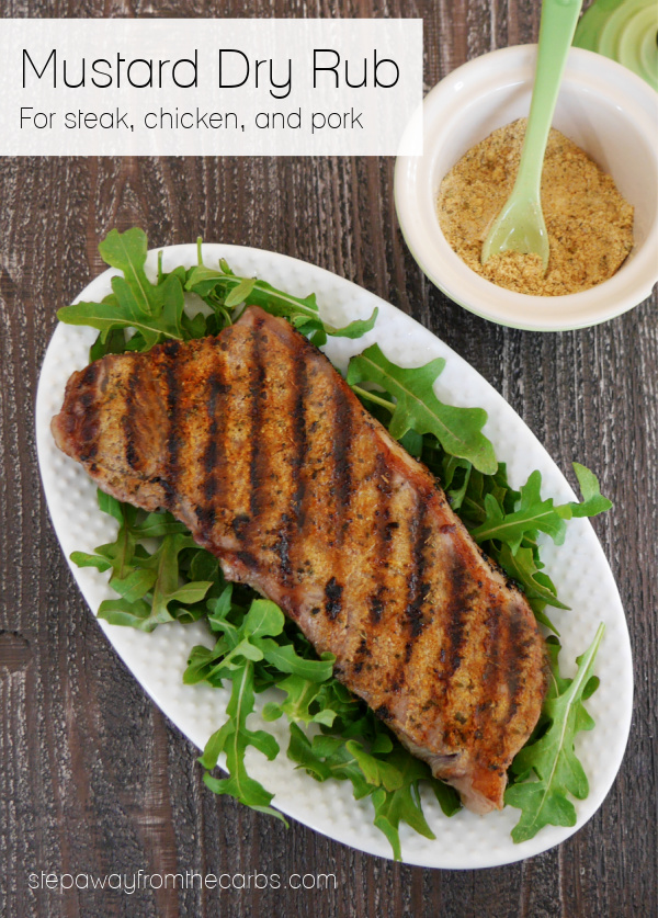 Mustard Dry Rub for steak, chicken, and pork. Low carb and keto recipe.