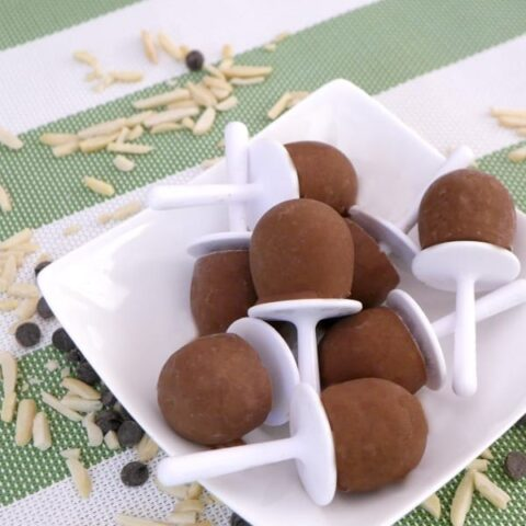Low Carb Almond Chocolate Mini Pops