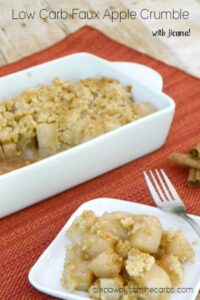 Low Carb Faux Apple Crumble
