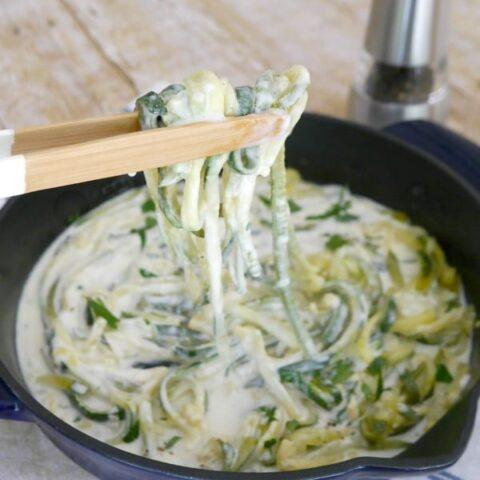 Low Carb Zucchini Alfredo