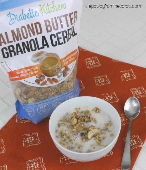 Diabetic Kitchen Almond Butter Low Carb Granola Cereal