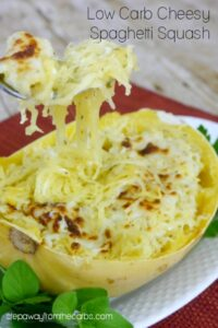 Low Carb Cheesy Spaghetti Squash