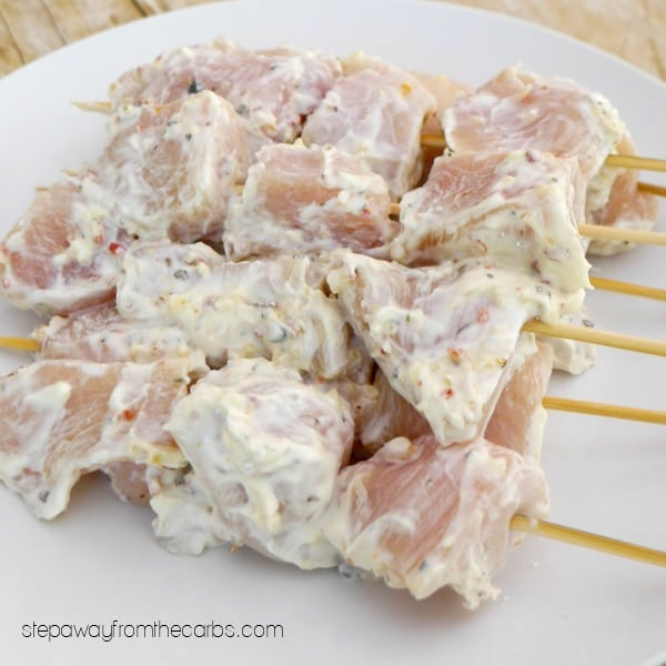 Low Carb Chicken Souvlaki - a Greek recipe for the grill!