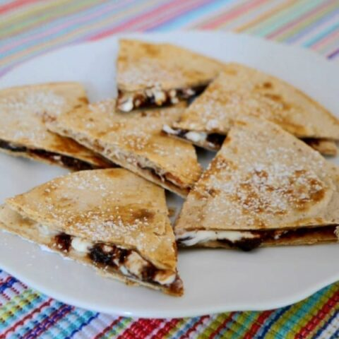 Low Carb Chocolate Quesadillas