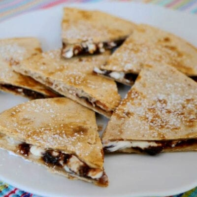 Low Carb Chocolate Quesadilla