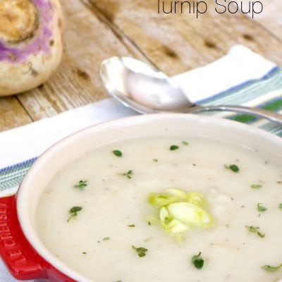 Low Carb Creamy Turnip Soup