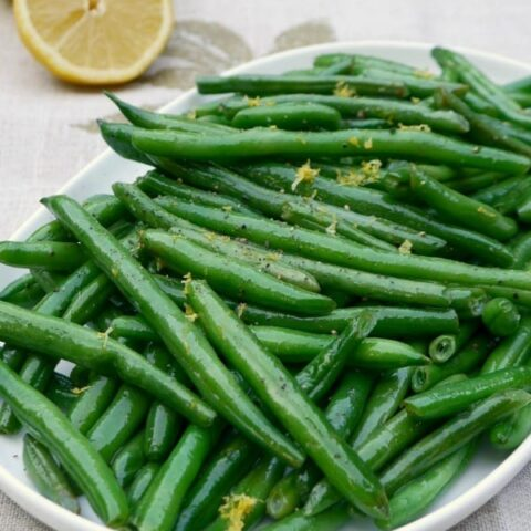 Low Carb Green Beans with Lemon and Pepper