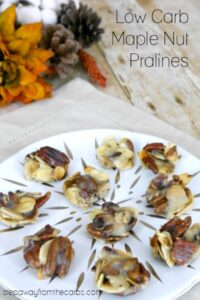 Low Carb Maple Nut Pralines