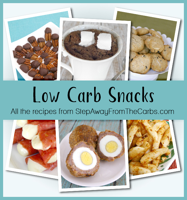 Low Carb Snacks - all the recipes (sweet and savory!) from StepAwayFromTheCarbs.com