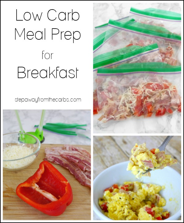 Low Carb Meal Prep for Breakfast - get organized for the week ahead!