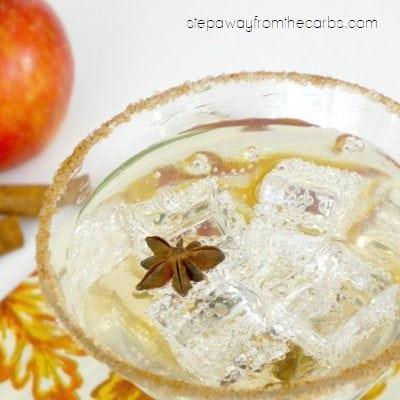 Low Carb Caramel Apple Cocktail