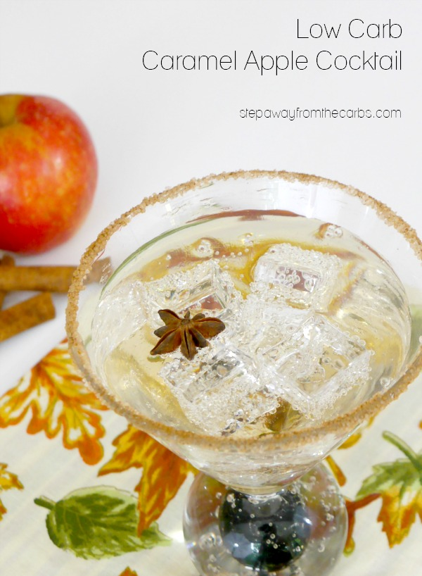 Low Carb Caramel Apple Cocktail - sugar free recipe that is perfect for autumn!