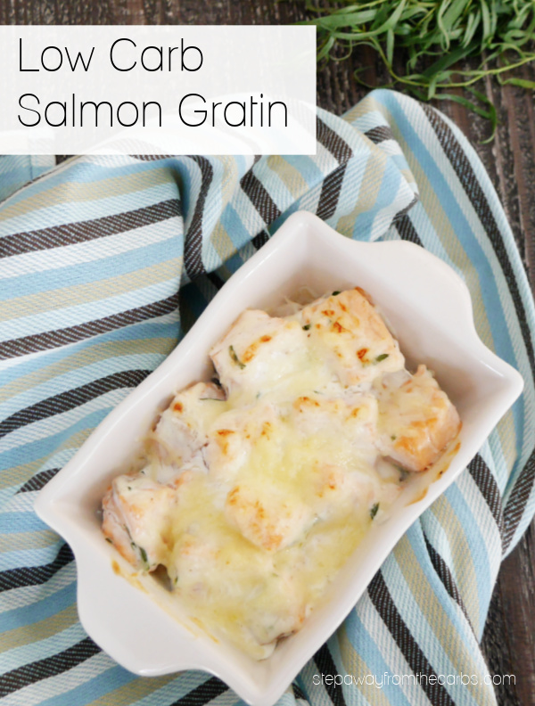 Low Carb Salmon Gratin - a keto and LCHF comfort food recipe