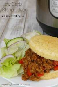 Low Carb Sloppy Joes in the Instant Pot