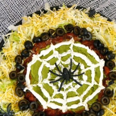 Low Carb Spider Web Dip