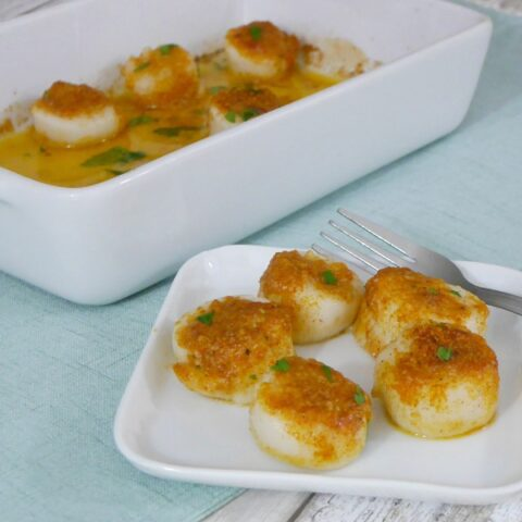 Low Carb Baked Scallops