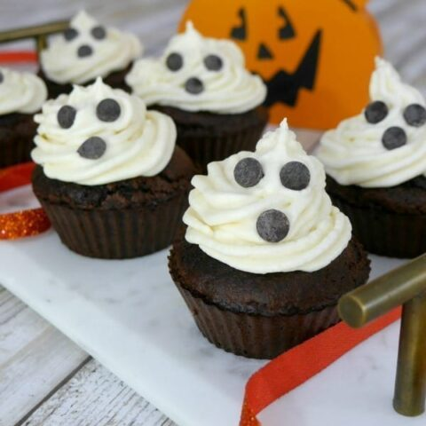Low Carb Ghost Cupcakes