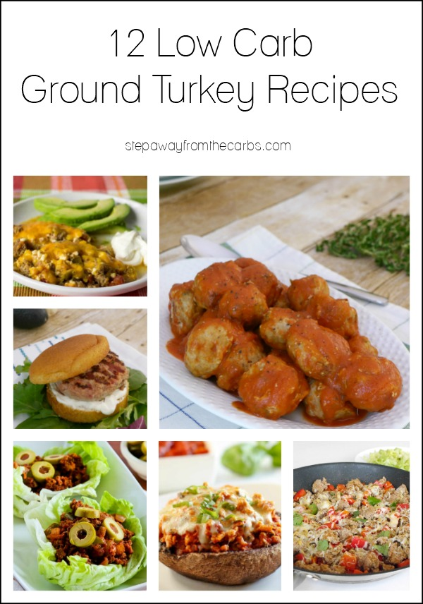 12 Low Carb Ground Turkey Recipes - all gluten free and keto-friendly!