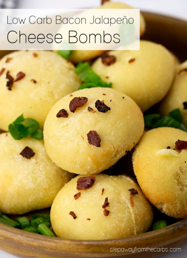 Low Carb Bacon Jalapeño Cheese Bombs - keto, gluten free and LCHF appetizer, snack, or party recipe!