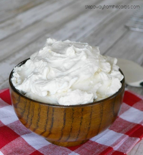 Low Carb Cream Cheese Frosting - an easy sugar free, LCHF and keto recipe