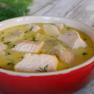 Low Carb Salmon Soup