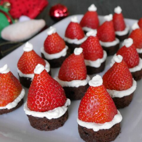 Low Carb Santa Hat Brownies
