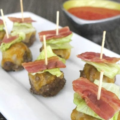 Bun-less Bacon Cheeseburger Bites