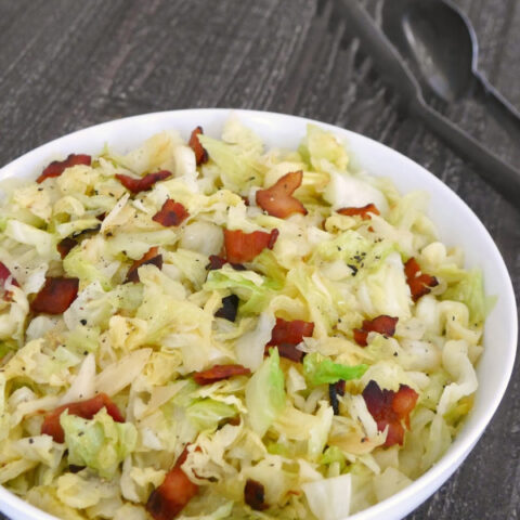 Low Carb Bacon-Fried Cabbage