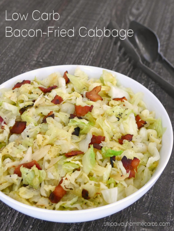 Low Carb Bacon Fried Cabbage - a tasty side dish recipe!