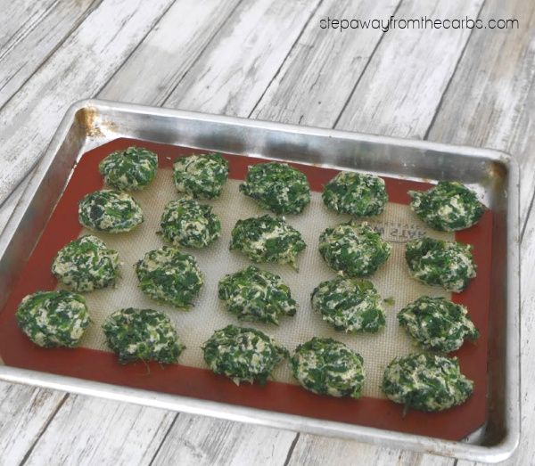 Low Carb Gnocchi with Spinach and Ricotta - a gluten free, vegetarian, LCHF and keto recipe.