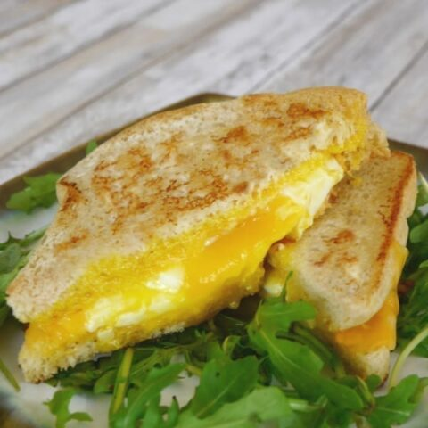 Low Carb Grilled Cheese with a Fried Egg