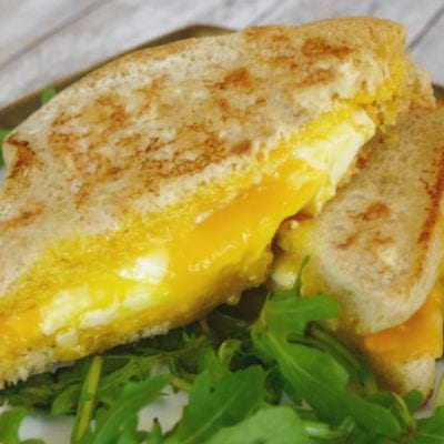 Low Carb Grilled Cheese – with a Fried Egg