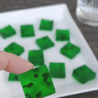 Low Carb Mojito Jello Bites