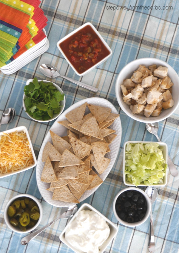 Low Carb Nacho Bar - perfect for game days and entertaining!